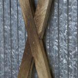 Třídílny paravan dřevěný s kovovou výplní HS 1867