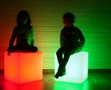 Zahradní osvětlení LED kostka CUBE