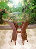 ratanový stolek