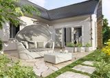 Záhradná ratanová pohovka