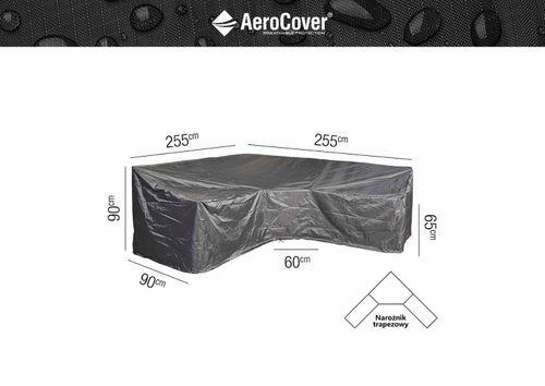 Ochranný kryt na zahradní nábytek L/Trapeze 255x255x90xH65/90 HB
