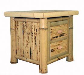Bambusový noční stolek FLORES - různé barvy