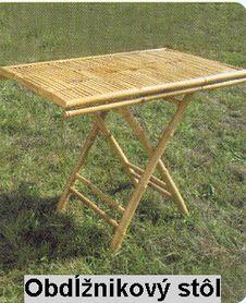 Bambusový stůl MB-14