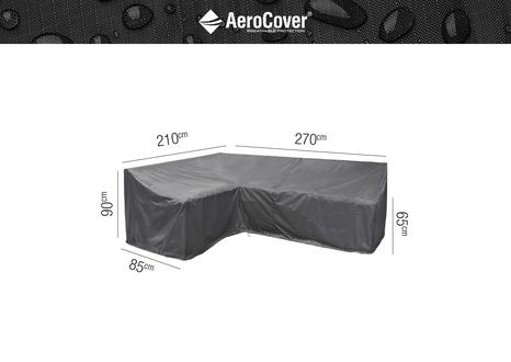 Ochranný kryt na zahradní nábytek L - 270x210x85xH65/90 HB prava