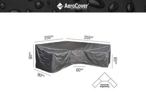Ochranný kryt na zahradní nábytek L - 255x255x90xH65/90 HB
