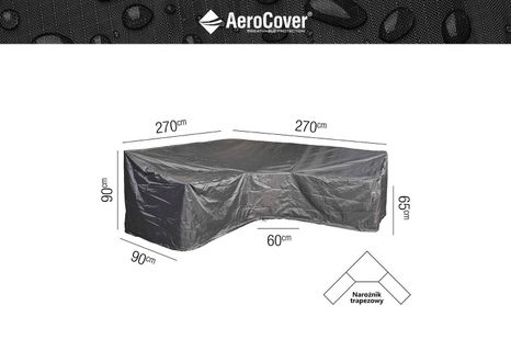 Ochranný kryt na zahradní nábytek L - 270x270x90xH65/90 HB