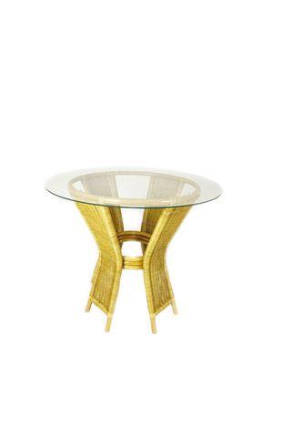 Ratanový jídelní stůl UNI - světlý