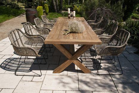 Zahradní teakový jídelní set LYON 300 cm III.