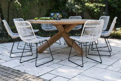 Zahradní teakový jídelní set BORDEAUX 170 cm II.