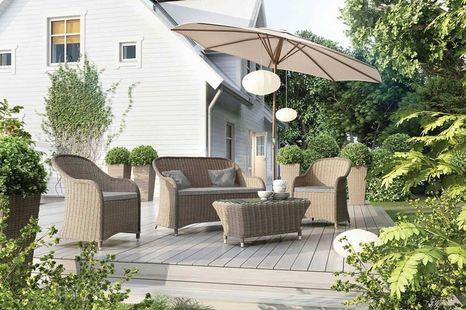 Zahradní ratanová sedací souprava LEONARDO písek