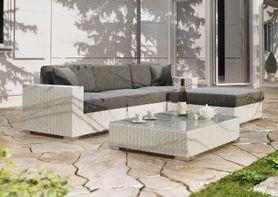 Zahradní ratanová sedací souprava  MILANO I. bílá