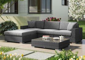 Zahradní ratanová sedací souprava MILANO I. šedá