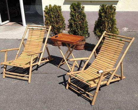 Bambusový nábytek s područkami HT-C18