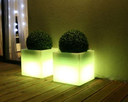 Zahradní osvětlení LED květináč CUADRO