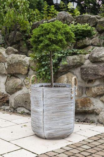 Zahradní ratanový květináč AMIENS přírodní